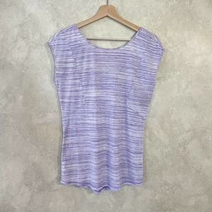 Zella Purple Burnout Top Size Small Tall